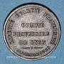 Monnaies Guerre de 1870-1871. Comité Provisoire de Lyon. Médaille bronze. 29,6 mm