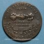 Monnaies Guerre de 1870-1871. Intervention de Victor Hugo - 1er anniversaire. Médaille bronze