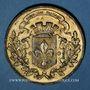 Monnaies Guerre de 1870-1871. L'armée du Nord réorganisée et massée autour de Lille. Médaille étain doré