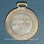 Monnaies Guerre de 1870-1871. Léon Gambetta. Médaille cuivre jaune argenté
