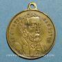Monnaies Guerre de 1870-1871. Léon Gambetta. Médaille cuivre jaune