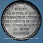 Monnaies Guerre de 1870-1871. Les subsistances alimentaires. Réunion des 20 maires de Paris. Médaille. 48,1mm