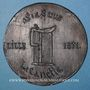 Monnaies Guerre de 1870-1871. Lille, Impôt sur la bière. Médaille étain cuivré. 71 mm