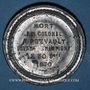 Monnaies Guerre de 1870-1871. Mort du colonel A. Prévault. Médaille étain. 37,2 mm