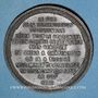 Monnaies Guerre de 1870-1871. Mort du duc de la Rochefoucauld. Médaille étain bronzé. 45,8 mm