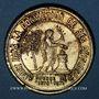 Monnaies Guerre de 1870-1871. Mort du général Blaise. Médaille étain doré. 42,2 mm