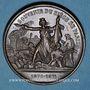 Monnaies Guerre de 1870-1871. Siège de Paris. Médaille cuivre rouge. 37 mm