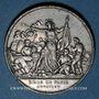 Monnaies Guerre de 1870-1871. Siège de Paris. Médaille étain. 33,9 mm