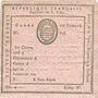 Monnaies Révolution. Commune de Paris. Fiche de signalement