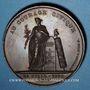 Monnaies Révolution de 1830. Lyon. Médaille cuivre 56 mm. Signée Dantzell