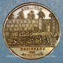 Monnaies Révolution de 1848. 23 juin. Dissolution des ateliers nationaux. Médaille cuivre jaune. 28 mm