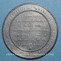 Monnaies Révolution de 1848. 24 juin - Chute de la commission exécutive. Médaille étain. 49 mm