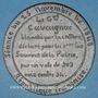 Monnaies Révolution de 1848. Accusations contre le général Cavaignac. Médaille étain. 72 mm