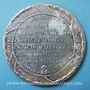 Monnaies Révolution de 1848. Arrestation des auteurs de l'attentat. Médaille étain coulé. 46,3 mm