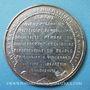Monnaies Révolution de 1848. Arrestation des auteurs de l'attentat. Médaille étain coulé. 46 mm