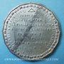 Monnaies Révolution de 1848. Candidatures à la présidence. Médaille étain. 47 mm