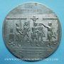 Monnaies Révolution de 1848. Chute de la Royauté. Médaille étain. 90 mm