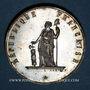 Monnaies Révolution de 1848. Club de la Montagne de Montmartre. Médaille cuivre argenté. 33,9 mm