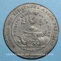 Monnaies Révolution de 1848. Clubs du Nord et du Pas de Calais. Médaille étain. 45 mm
