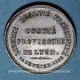 Monnaies Révolution de 1848. Comité provisoire de Lyon. Médaille cuivre. 29 mm