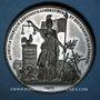 Monnaies Révolution de 1848. Commémoration des journées de févier. Médaille étain. 45 mm