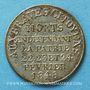 Monnaies Révolution de 1848. Commémoration des journées de février. Médaille cuivre argenté. 24,5 mm