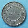 Monnaies Révolution de 1848. Commémoration des journées de février. Médaille cuivre blanchi. 24,7 mm