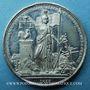 Monnaies Révolution de 1848. Commémoration des journées de février. Médaille étain. 22 mm