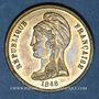 Monnaies Révolution de 1848. Commémoration des journées de février. Médaille laiton. 22,5 mm