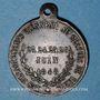 Monnaies Révolution de 1848. Concours armé des départements. Médaille cuivre. 26 mm