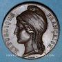 Monnaies Révolution de 1848. Concours armé des départements. Médaille cuivre. 37 mm