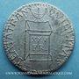 Monnaies Révolution de 1848. Décret sur le traitement des représentants. Médaille plomb. 22 mm