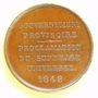Monnaies Révolution de 1848. Formation du gouvernement provisoire. Ledru-Rollin. Médaille cuivre. 26,3 mm