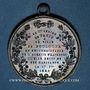 Monnaies Révolution de 1848. Fraternisation des gardes nationales. Médaille bronze. 35 mm