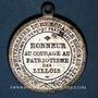 Monnaies Révolution de 1848. Fraternisation des gardes nationales. Médaille cuivre argenté. 33,3 mm