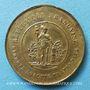 Monnaies Révolution de 1848. Fraternisation des gardes nationales. Médaille cuivre jaune. 23,7 mm