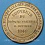 Monnaies Révolution de 1848. Fraternisation des gardes nationales. Médaille cuivre jaune. 24 mm