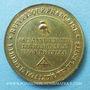 Monnaies Révolution de 1848, Fraternisation des gardes nationales, médaille cuivre jaune. 24 mm