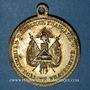 Monnaies Révolution de 1848. Fraternisation des gardes nationales. Médaille cuivre jaune. 33,3 mm