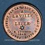 Monnaies Révolution de 1848. Fraternisation des gardes nationales. Médaille cuivre rouge. 24 mm