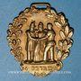Monnaies Révolution de 1848. Insignes de 1848. Combattant de février. Médaille cuivre jaune repoussé. 32 mm