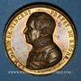 Monnaies Révolution de 1848. Le département du Rhône au baron de Vincent. Médaille cuivre doré. 36 mm