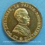 Monnaies Révolution de 1848. Le général Cavaignac. Médaille cuivre jaune. 24,2 mm