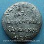 Monnaies Révolution de 1848. Le général Cavaignac. Médaille plomb. 24 mm