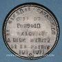 Monnaies Révolution de 1848. Le général Cavaignac. Médaille plomb. 40 mm