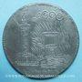 Monnaies Révolution de 1848. Lutte. Chute de la Royauté. Médaille plomb. 72 mm