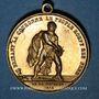 Monnaies Révolution de 1848. Lyon. Le Peuple rompt sur Paris. Médaille cuivre. 31 mm