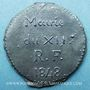 Monnaies Révolution de 1848. Mairie du XIIe. Bon pour 1 pain. Médaille plomb-étain, 29 mm