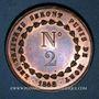 Monnaies Révolution de 1848. Médailles des Clubs et Sociétés. Médaille cuivre. 35 mm