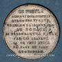Monnaies Révolution de 1848. Médailles des Clubs et Sociétés. Médaille étain frappé. 37 mm